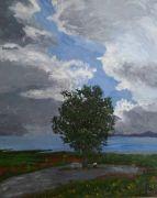 landscape art,botanical art,acrylic painting,Love Comforts Like Sunshine After Rain